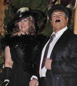 Mae West & Charlie Chhplain at Murder Mystery Destination Wedding